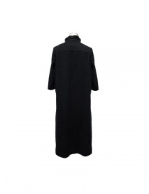 Casey Casey black wool dress Mandarin collar