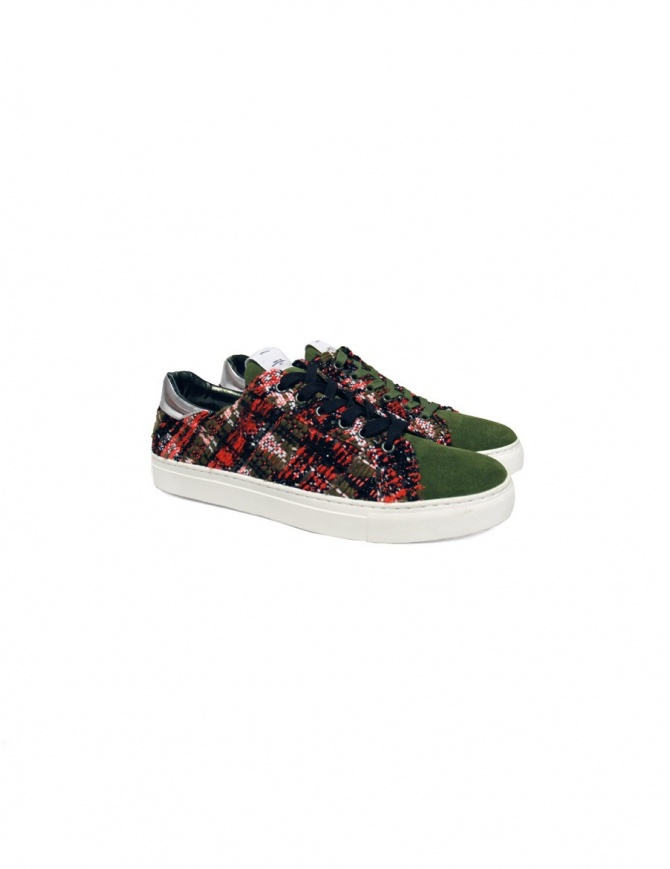 Yoshio Kubo green sneakers YKF15916-KHA mens shoes online shopping
