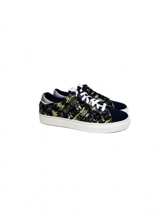 Sneaker Yoshio Kubo colore blu YKF15916 NAVY calzature uomo online shopping