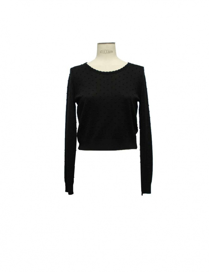 Carven Court black sweater 830PU04 womens knitwear online shopping