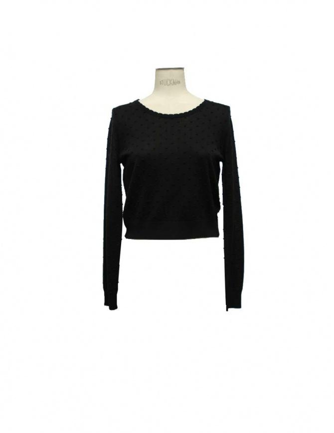 Maglia Court Carven colore nero 830PU04 999 maglieria donna online shopping