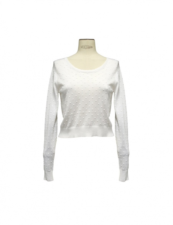 Carven Court white sweater 830PU04 001 womens knitwear online shopping