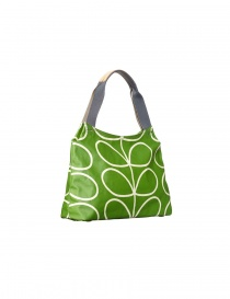 Orla Kiely green apple bag