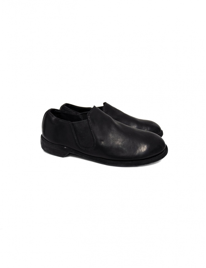 Black leather Guidi 109 shoes (female style) 109 BLKT DONKEY FG CV womens shoes online shopping