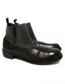 Mens shoes online: Black leather ankle boots Guidi E98