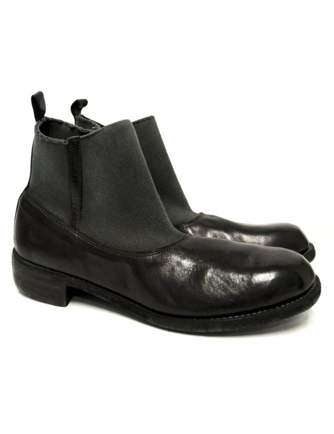 Black leather ankle boots Guidi E98 E98 BLKT HORSE FULL GRAIN mens shoes online shopping