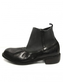 Black leather ankle boots Guidi E98