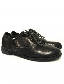 Black leather Guidi 110 shoes 110 HORSE FU