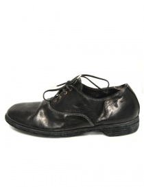 Black leather Guidi 110 shoes buy online