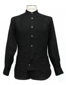 Camicia Haversack collo alla coreana 821600 05 BLACK