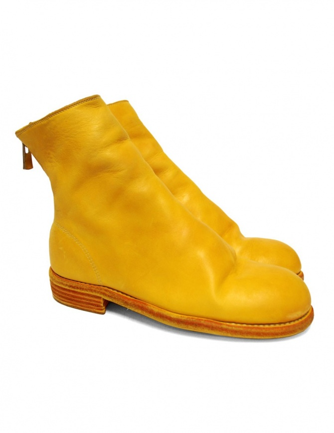 Guidi 986 leather yellow ankle boots 986-C007T-HO womens shoes online shopping