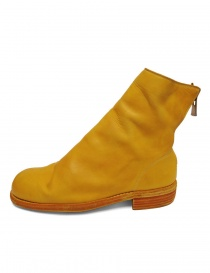 Guidi 986 leather yellow ankle boots buy online