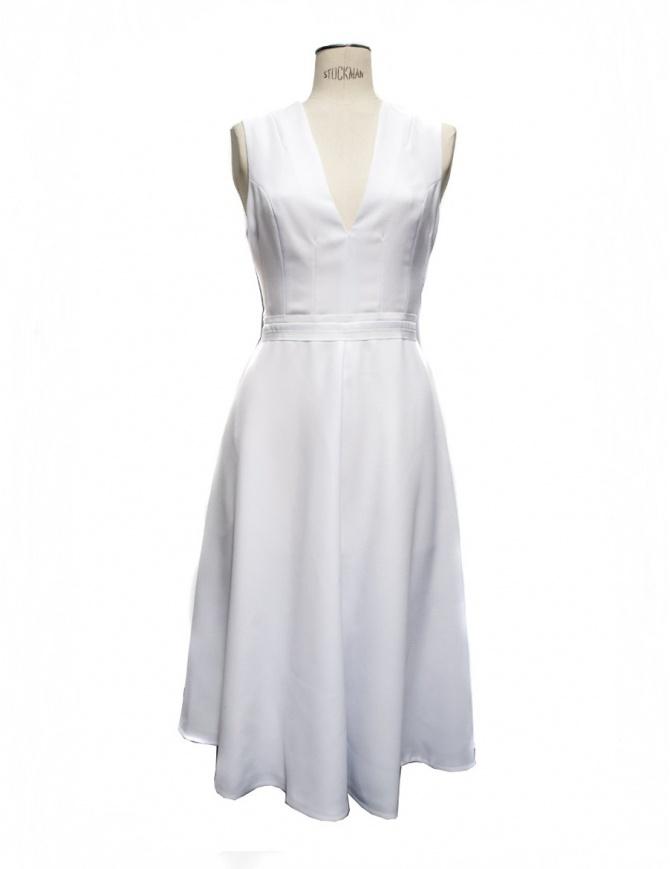 Blanc Optique Carven dress 175R47 womens dresses online shopping