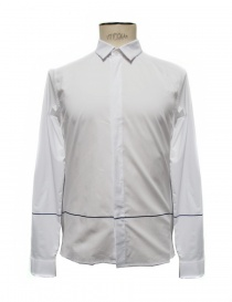 Mens shirts online: Cy Choi white cotton shirt