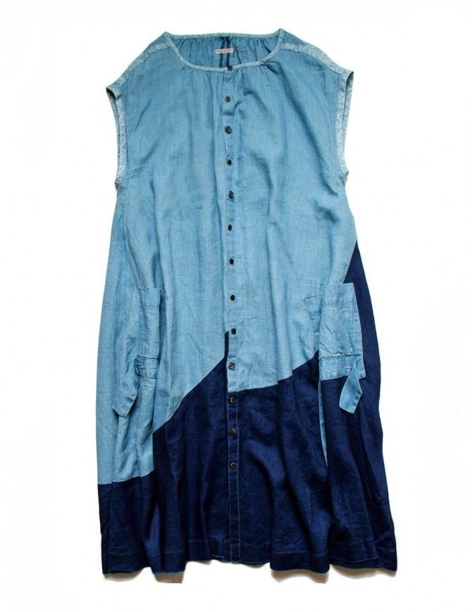Abito Kapital in cotone indaco K05050P03 abiti donna online shopping