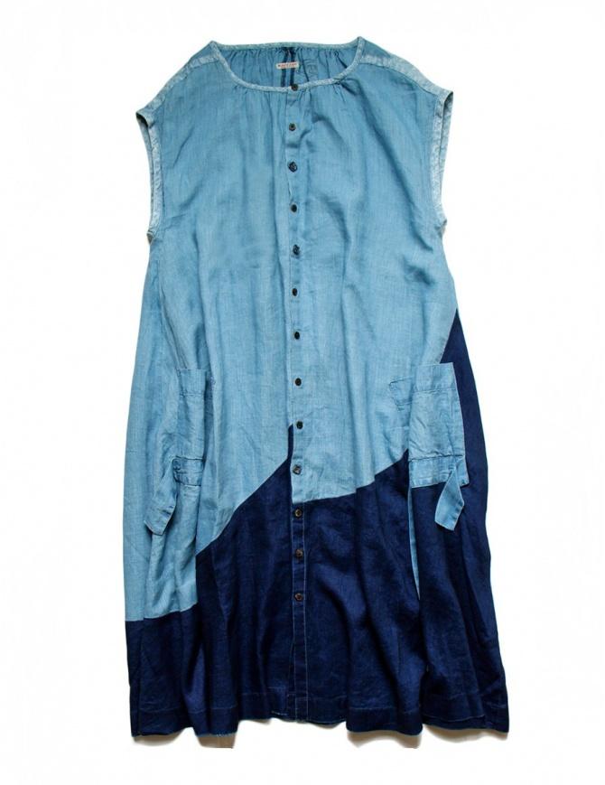 Abito Kapital in denim azzurro e indaco K05050P03 abiti donna online shopping
