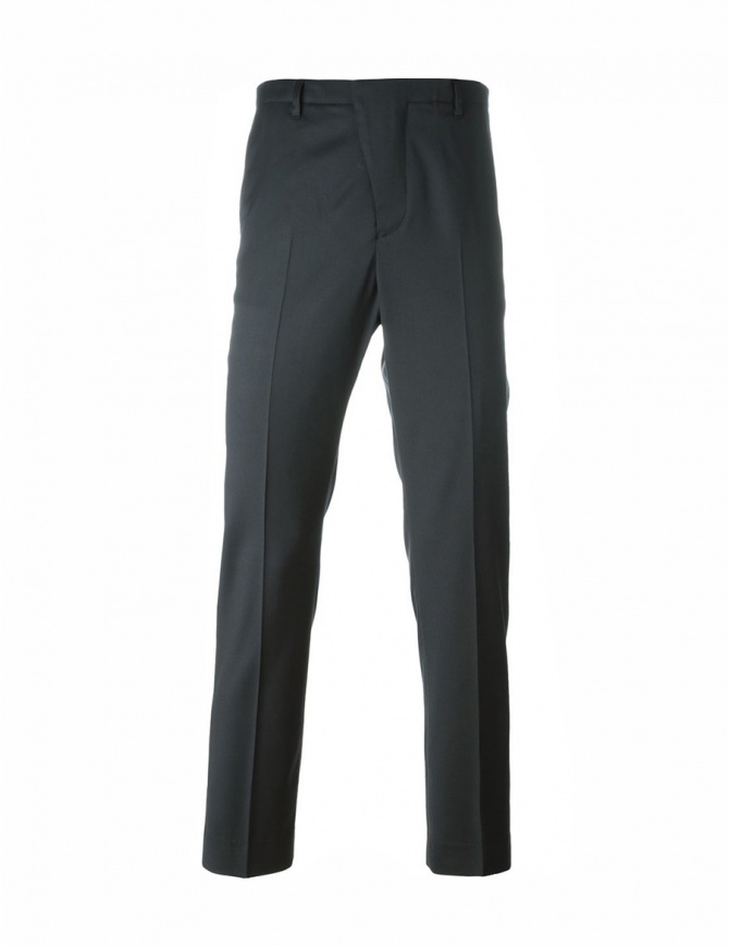 Golden Goose grey pleated-front pants G28MP701.A5 mens trousers online shopping