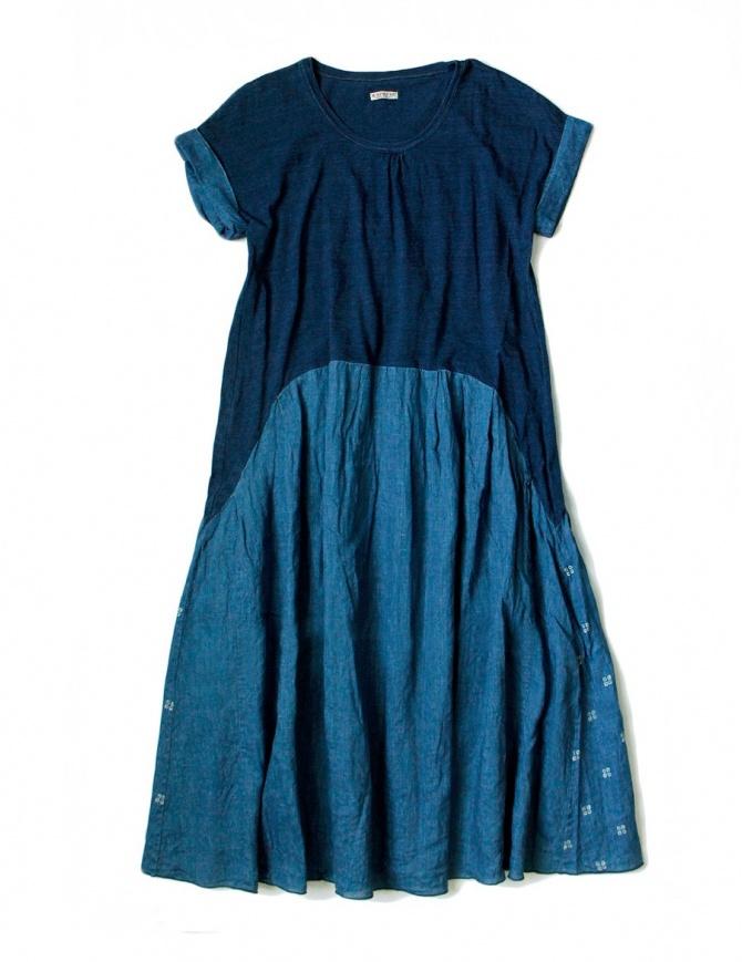 Kapital indigo dress with floral skirt EK-425 womens dresses online shopping