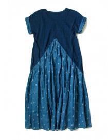 Kapital indigo dress with floral skirt buy online
