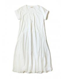 Kapital white cotton knee-length dress EK-424 WHITE