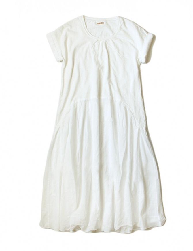 Kapital white cotton knee-length dress EK-424 WHITE womens dresses online shopping