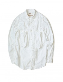 Mens shirts online: Kapital white cotton shirt