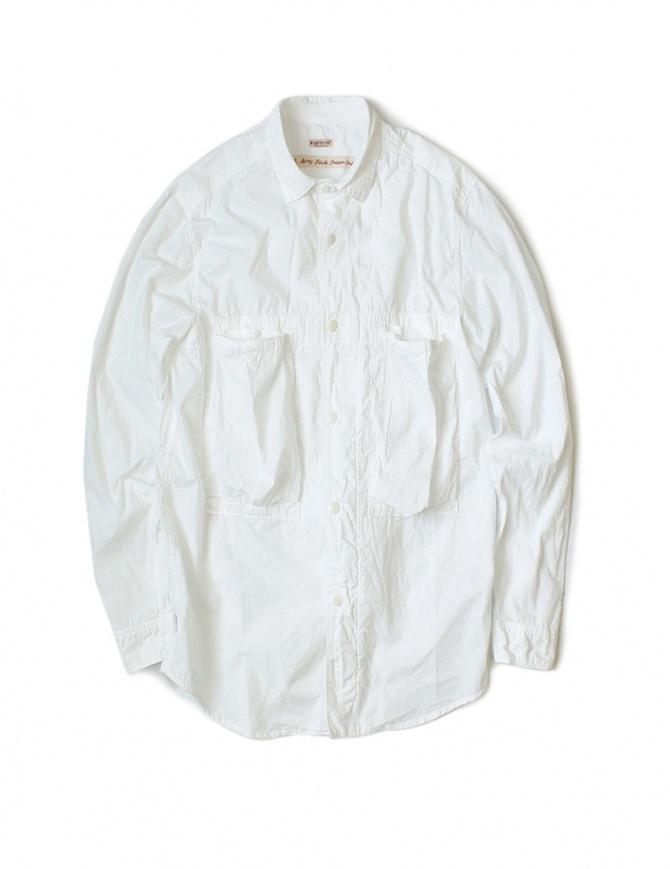 Camicia bianca in cotone Kapital K1604LS116 WHITE camicie uomo online shopping