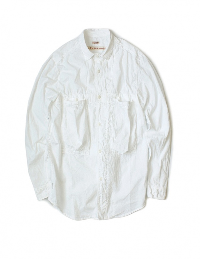 Kapital white cotton shirt K1604LS116 WHITE mens shirts online shopping