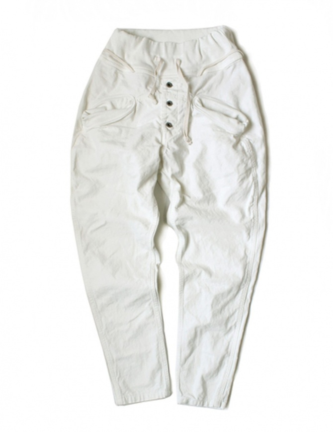 Pantalone bianco Kapital da uomo EK-169 wh pantaloni uomo online shopping