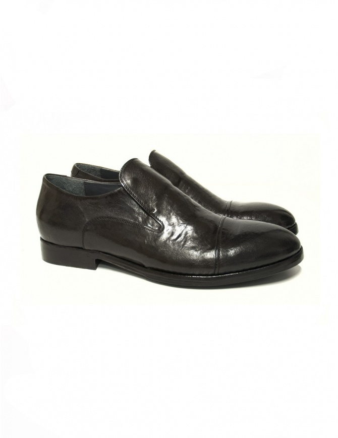 Measponte dark brown leather shoes RI69021-BUFA mens shoes online shopping
