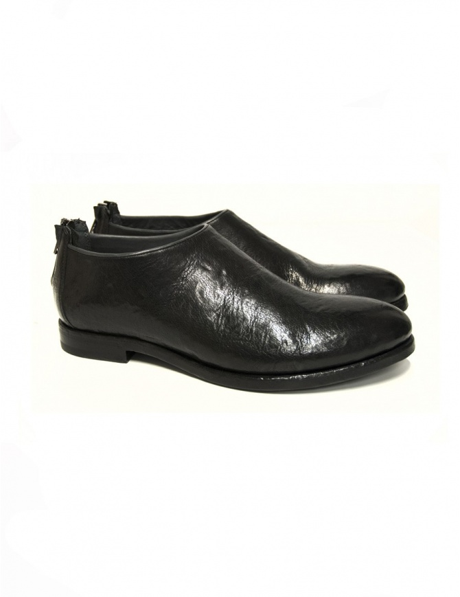 Measponte black leather shoes RI60001-BUFA womens shoes online shopping