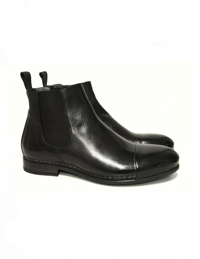 Stivaletto Measponte in pelle nera RI69014-BUFA calzature uomo online shopping