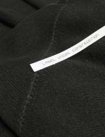 Label Under Construction Zipped Seams Yardstick sweater