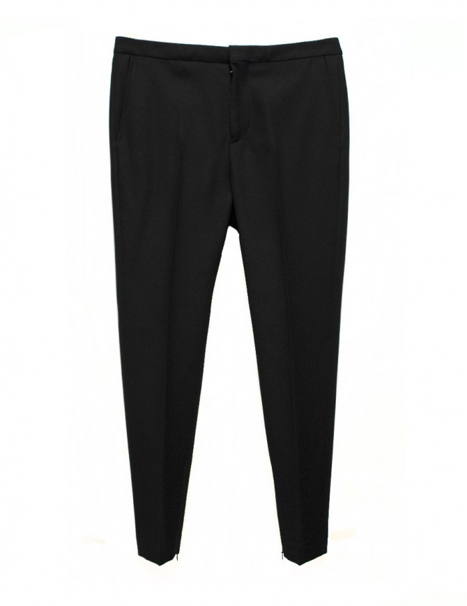 Golden Goose Kester black wool pants G29MP508.A1 mens trousers online shopping