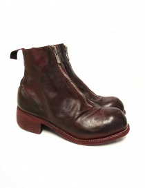 Womens shoes online: Red calf leather Guidi PL1 lined ankle boots