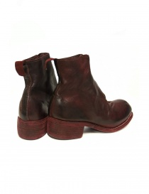 Red calf leather Guidi PL1 lined ankle boots price