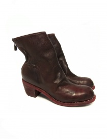 Red leather Guidi 4006 ankle boots online