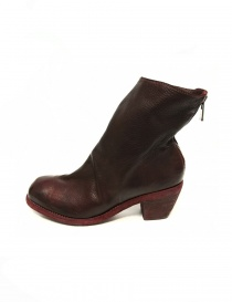 Red leather Guidi 4006 ankle boots