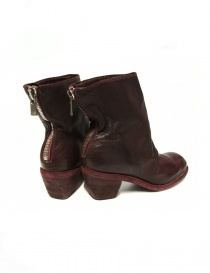 Red leather Guidi 4006 ankle boots price