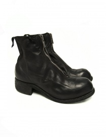 Stivaletto Guidi PL1 foderato in pelle nera di vitello PL1 BABY CALF LINED BLKT