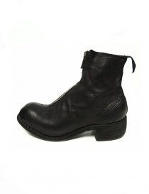 Guidi PL1 black leather ankle boots