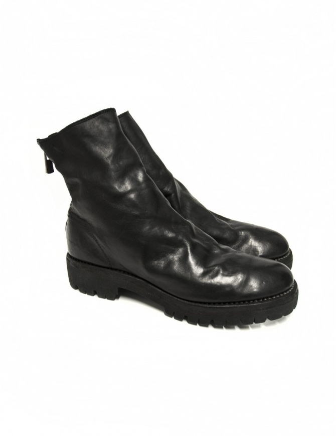 Black leather ankle boots 796V Guidi 796V-HORSE-LINED BLKT womens shoes online shopping
