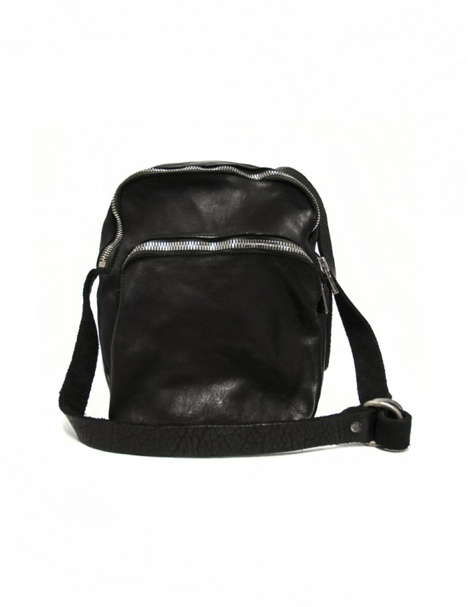 Black leather Guidi BR0 bag BR0 SOFT HORSE FULL GRAIN BLKT bags online shopping