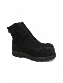 Black suede leather ankle boots 796V Guidi online