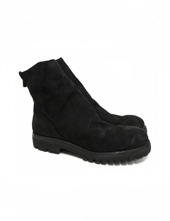 Stivaletto Guidi 796V in pelle scamosciata nera 796V-BUFFALO BLKT calzature uomo online shopping