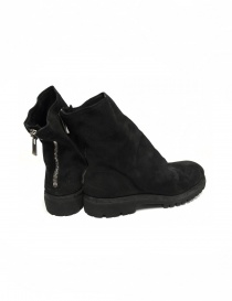 Black suede leather ankle boots 796V Guidi
