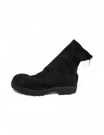 Stivaletto Guidi 796V in pelle scamosciata nera calzature uomo acquista online