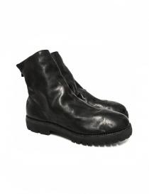 Black leather ankle boots 796V Guidi 796V-HORSE-FG