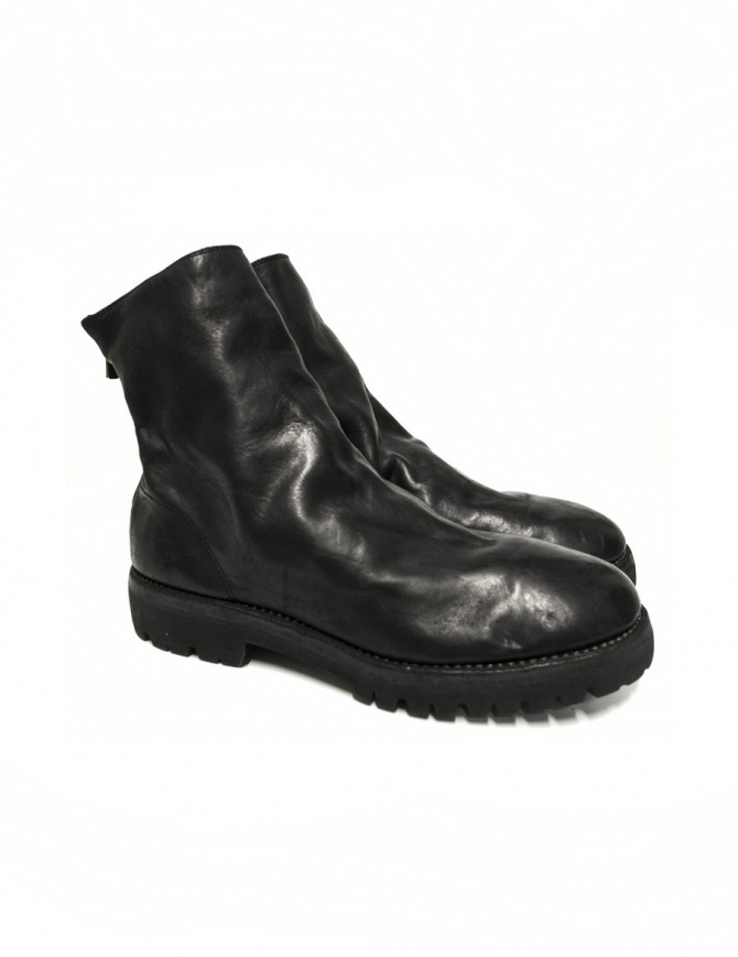 Black leather ankle boots 796V Guidi 796V-HORSE-FG mens shoes online shopping