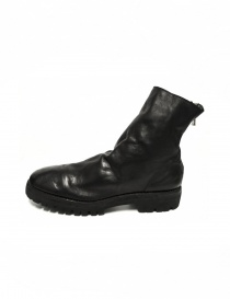 Black leather ankle boots 796V Guidi